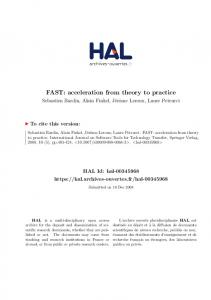 FAST: acceleration from theory to practice