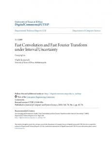 Fast Convolution and Fast Fourier Transform under Interval Uncertainty