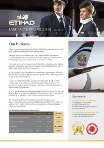FAST FACTS AND FIGURES June Our business. Our awards