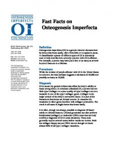 Fast Facts on Osteogenesis Imperfecta