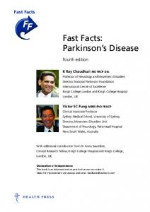 Fast Facts: Parkinson s Disease