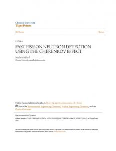 FAST FISSION NEUTRON DETECTION USING THE CHERENKOV EFFECT