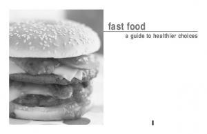 fast food a guide to healthier choices