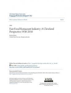 Fast-Food Restaurant Industry: A Cleveland Perspective