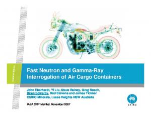 Fast Neutron and Gamma-Ray Interrogation of Air Cargo Containers