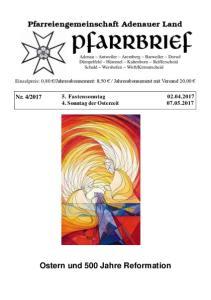 Fastensonntag Sonntag der Osterzeit Ostern und 500 Jahre Reformation
