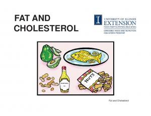 FAT AND CHOLESTEROL. Fat and Cholesterol