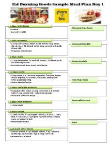 Fat Burning Foods Sample Meal Plan Day 1