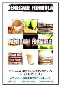 FAT LOSS RENEGADE FORMULA PROTEIN RECIPES