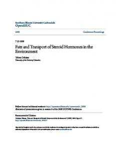 Fate and Transport of Steroid Hormones in the Environment