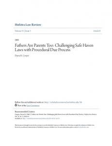 Fathers Are Parents Too: Challenging Safe Haven Laws with Procedural Due Process