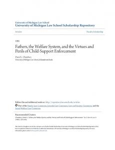 Fathers, the Welfare System, and the Virtues and Perils of Child-Support Enforcement