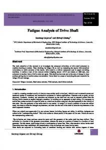 Fatigue Analysis of Drive Shaft