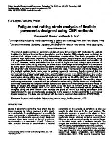 Fatigue and rutting strain analysis of flexible pavements designed using CBR methods