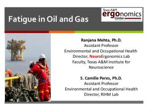 Fatigue in Oil and Gas