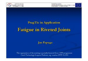 Fatigue in Riveted Joints