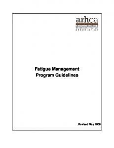 Fatigue Management Program Guidelines