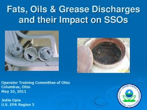 Fats, Oils & Grease Discharges and their Impact on SSOs
