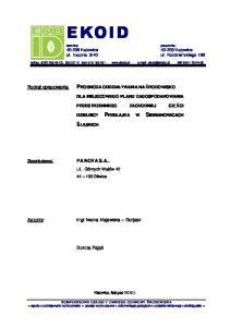 fax. (032) , kom NIP DLA MIEJSCOWEGO PLANU ZAGOSPODAROWANIA
