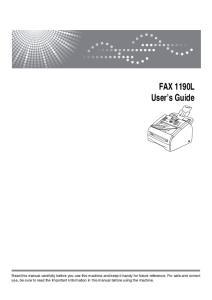 FAX 1190L User s Guide