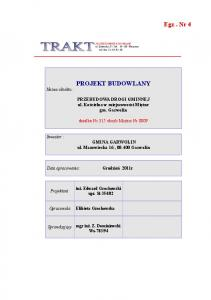 fax PROJEKT BUDOWLANY