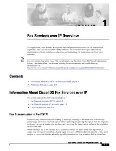 Fax Services over IP Overview
