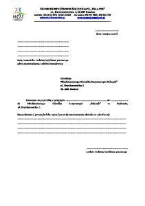 fax: ; tel. kom.: ;