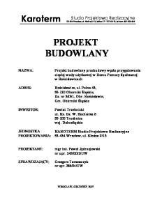 fax , tel.kom PROJEKT BUDOWLANY