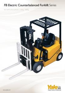 FB Electric Counterbalanced Forklift Series