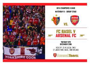 FC BASEL V ARSENAL FC