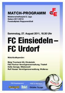 FC Einsiedeln FC Urdorf