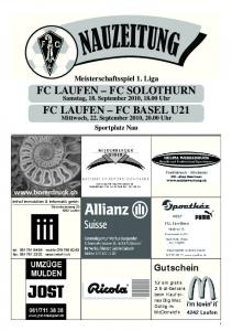 FC LAUFEN FC SOLOTHURN FC LAUFEN FC BASEL U21