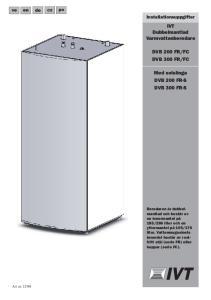 FC. Med solslinga DVB 200 FR-S DVB 300 FR-S. Installationsuppgifter
