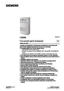 FC2060 Fire control panel (modular)