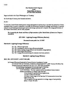 (FD HB 6 - Lighting Energy Efficiency Section)