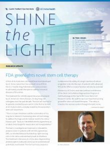 FDA greenlights novel stem cell therapy