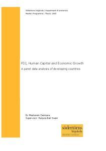 FDI, Human Capital and Economic Growth