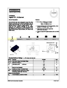 FDV301N Digital FET, N-Channel