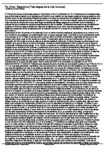 Fe, Amor, Esperanza (Tres etapas de la vida humana) Contribuido por Rudolf Steiner
