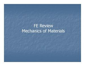 FE Review Mechanics of Materials