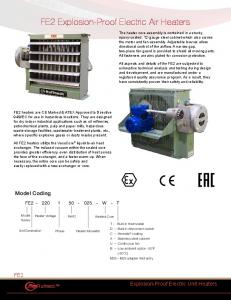 FE2 Explosion-Proof Electric Air Heaters