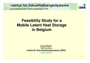 Feasibility Study for a Mobile Latent Heat Storage in Belgium