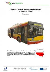 Feasibility study of introducing biogas buses in Rzeszow, Poland Final report