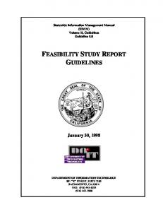 FEASIBILITY STUDY REPORT GUIDELINES