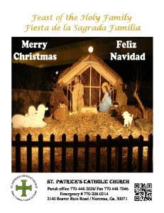 Feast of the Holy Family Fiesta de la Sagrada Familia
