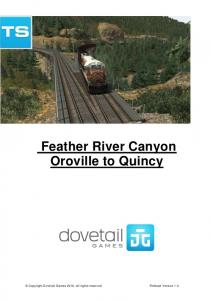 Feather River Canyon Oroville to Quincy
