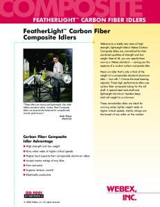 FeatherLight Carbon Fiber Composite Idlers