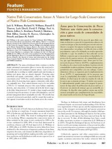 Feature: Native Fish Conservation Areas: A Vision for Large-Scale Conservation of Native Fish Communities
