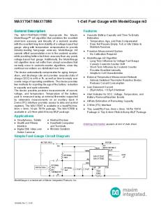 Features. General Description. Applications