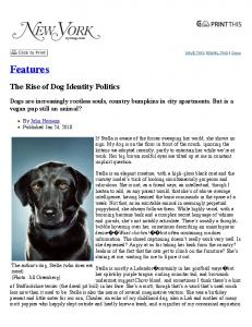 Features. The Rise of Dog Identity Politics